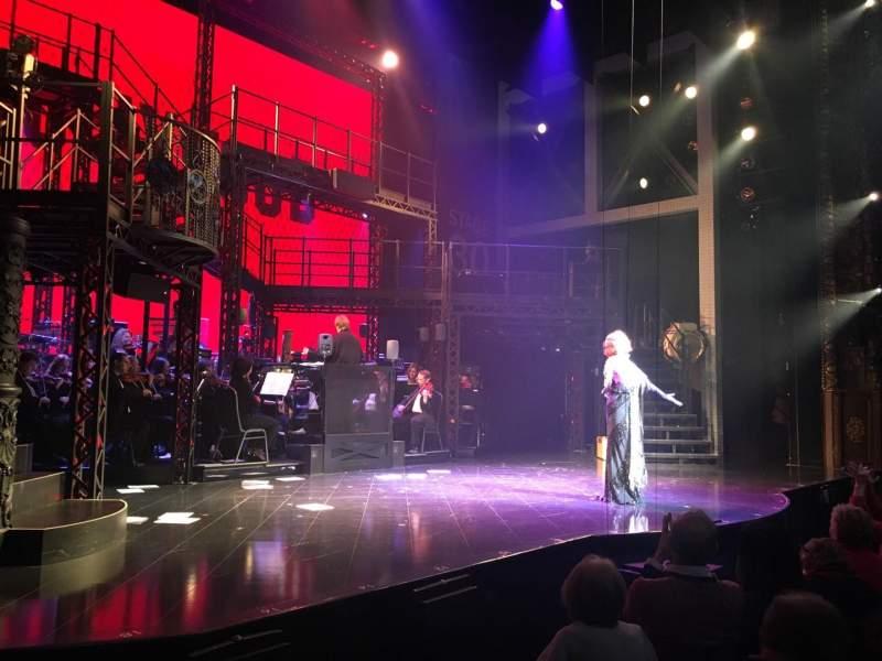 Vistas desde el asiento para Palace Theatre (Broadway) Sección Orchestra Fila D Asiento 1