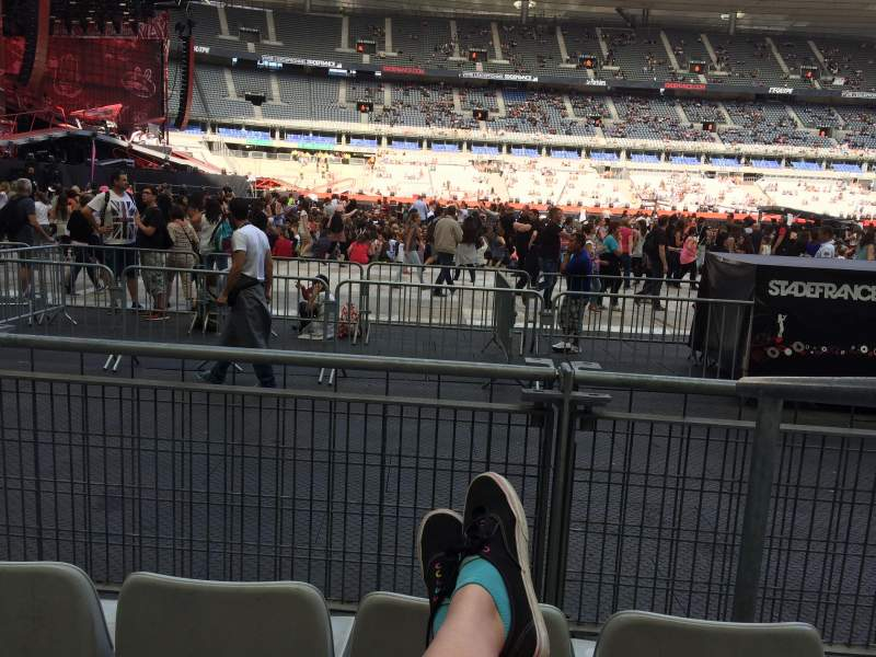 Vistas desde el asiento para Stade De France Sección S7 Fila 3 (front row Asiento 18