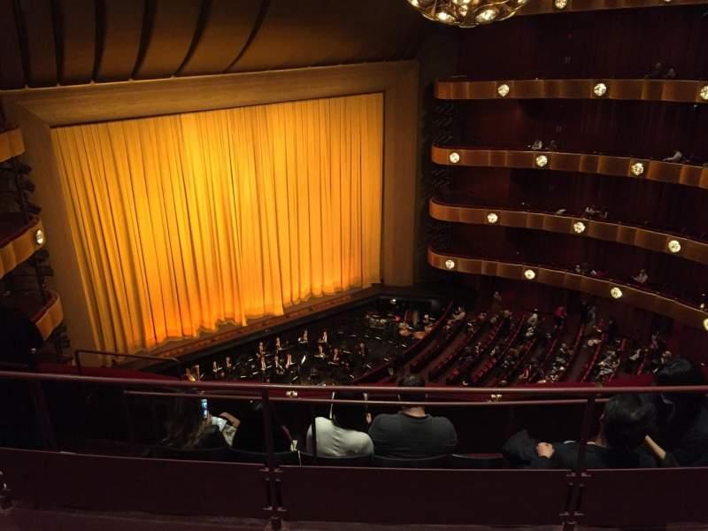 Vistas desde el asiento para Metropolitan Opera House - Lincoln Center Sección 4th Ring Fila C Asiento 29