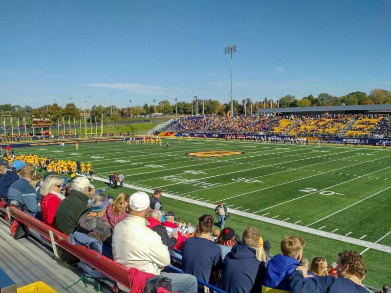 Vistas desde el asiento para Richardson Memorial Stadium Sección 118 Fila SRO