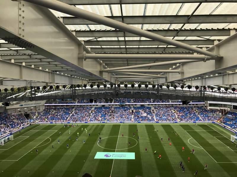 American Express Community Stadium, sección: W3D, fila: X, asiento: 99