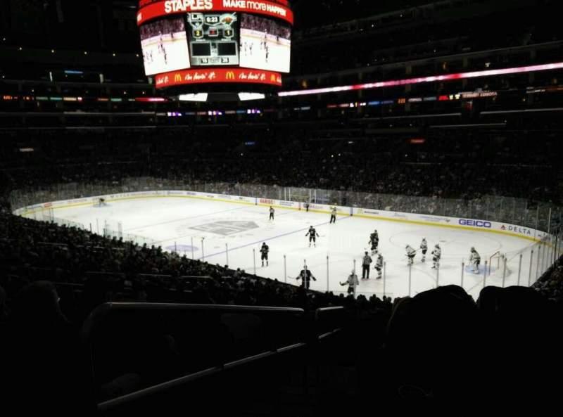 Staples Center, sección: PR1, fila: 9, asiento: 14