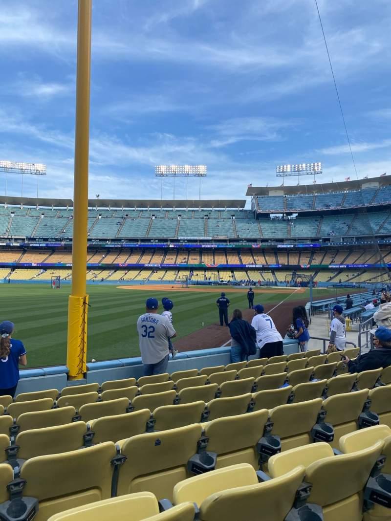 Vistas desde el asiento para Dodger Stadium Sección 49FD Fila G Asiento 15