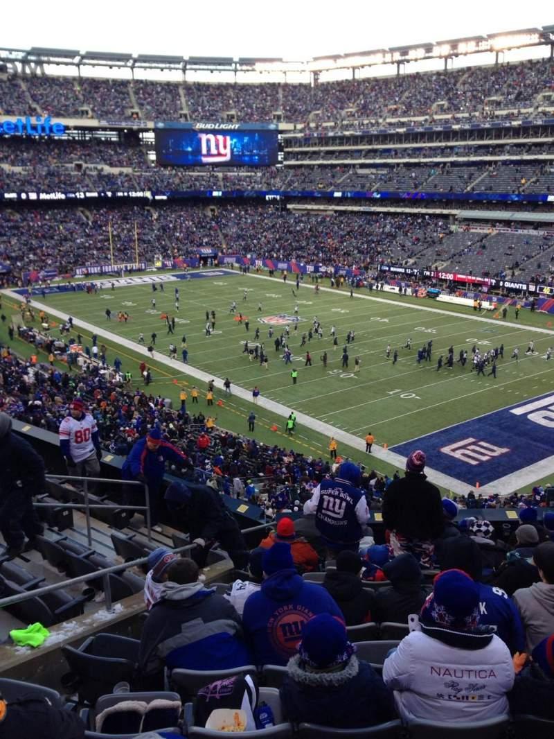 Vistas desde el asiento para MetLife Stadium Sección 232a Fila 11 Asiento 9