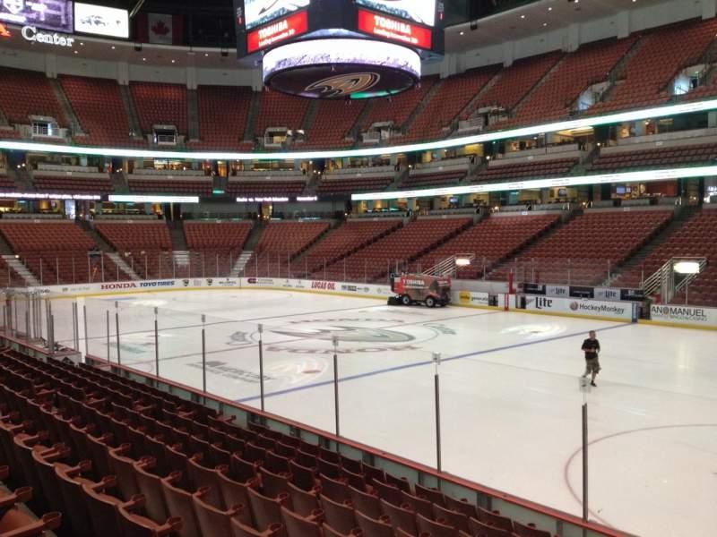 Honda Center, sección: 219, fila: K, asiento: 7