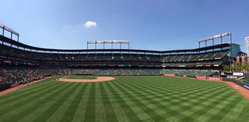Oriole Park at Camden Yards, sección: Standing Room Only