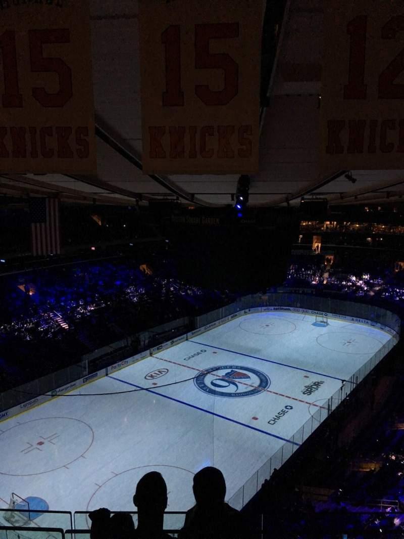 Vistas desde el asiento para Madison Square Garden Sección 322 Fila BS 3 Asiento 17