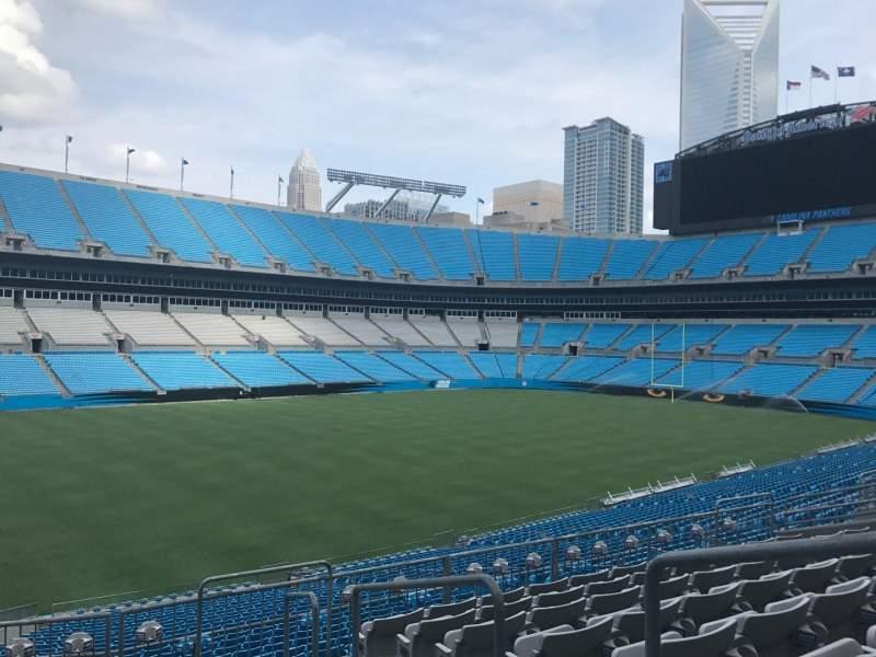 Bank of America Stadium, sección: 348, fila: 8, asiento: 1