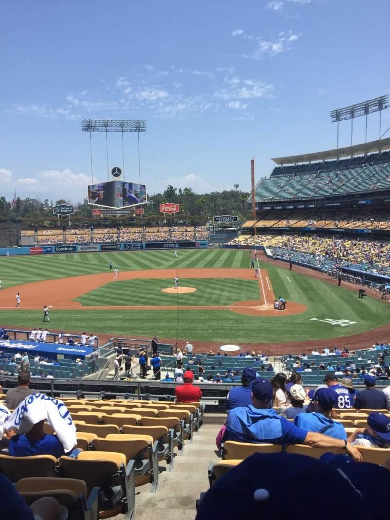 Vistas desde el asiento para Dodger Stadium Sección 119LG Fila L Asiento 7