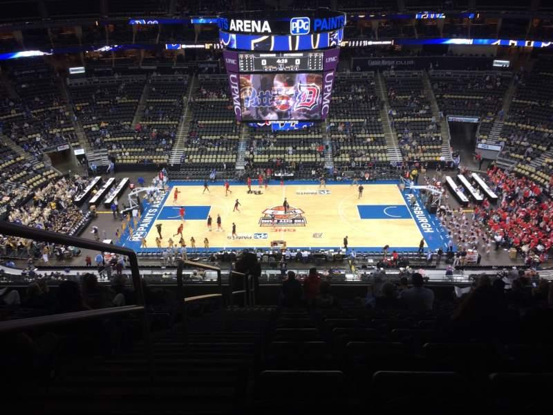 Vistas desde el asiento para PPG Paints Arena Sección 202 Fila M Asiento 14