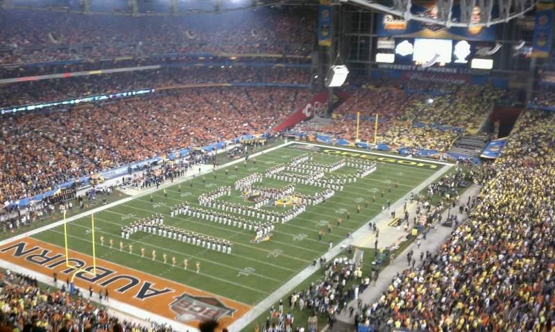University of Phoenix Stadium, sección: 423, fila: 21, asiento: 5