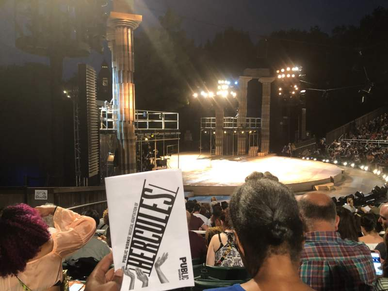 Vistas desde el asiento para The Delacorte Theater in Central Park Sección O Fila N Asiento 511