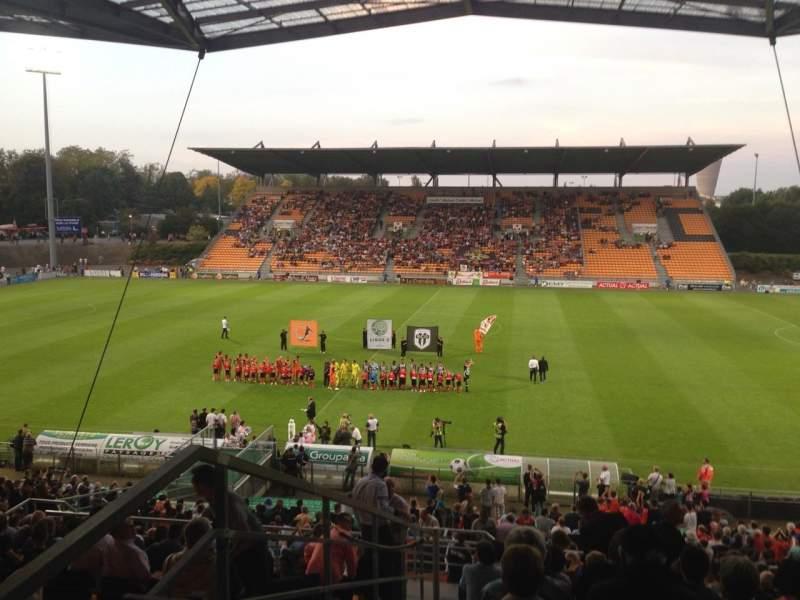 Vistas desde el asiento para Stade Francis Le Basser Sección Loge Fila 4
