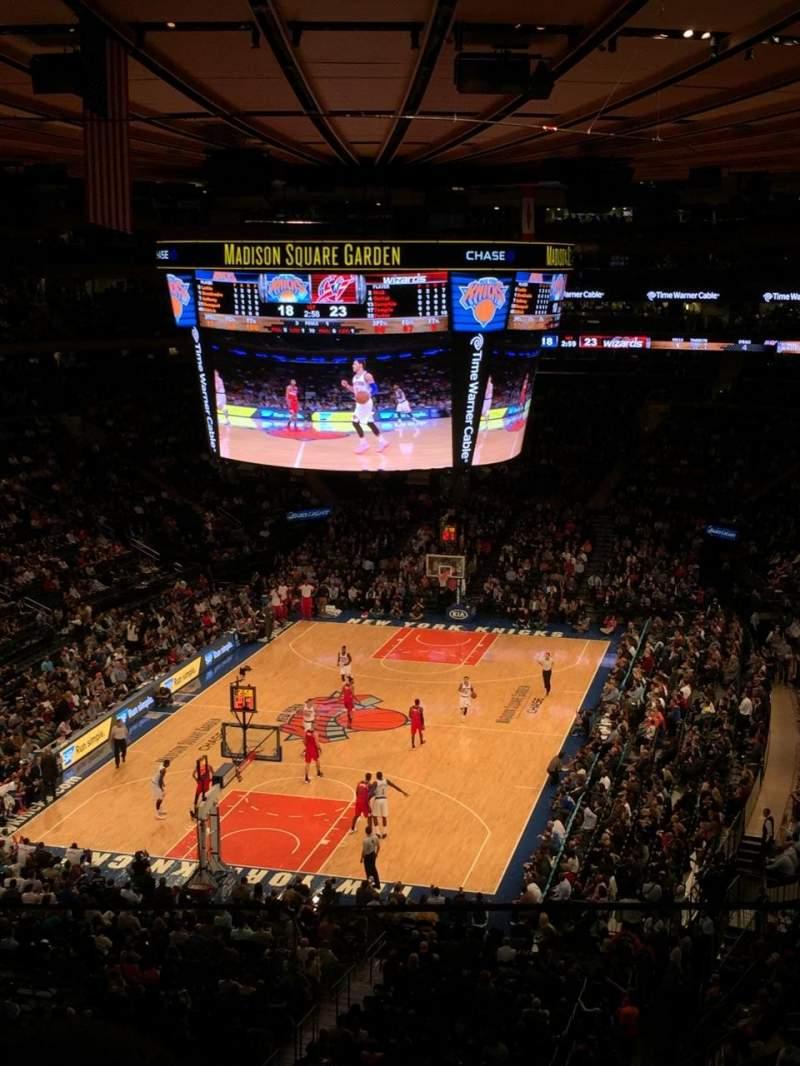 Vistas desde el asiento para Madison Square Garden Sección 418 Fila 2 Asiento 8