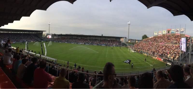 Vistas desde el asiento para Stade Raymond Kopa Sección Jean Bouin Laterale Fila S Asiento 2