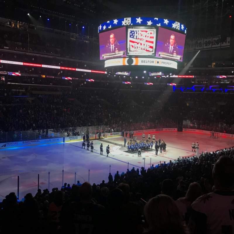 Staples Center, sección: PR8, fila: 7, asiento: 10